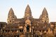 Cambodia: View of Angkor Wat from the eastern entrance